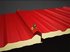 ساندویچ پانل سقفی مدل نروژ