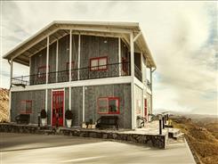ساختمان پیش ساخته با فونداسیون بتنی